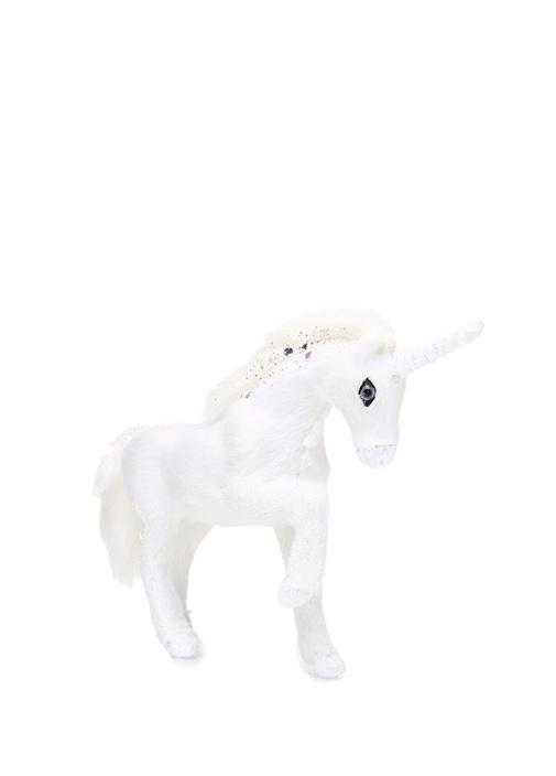 Beyaz Simli Unicorn Formlu Yılbaşı Süsü