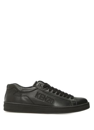 Tennix Siyah Logolu Erkek Deri Sneaker