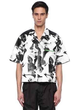 Mert Marcus 1994 Siyah Beyaz Desenli Gömlek