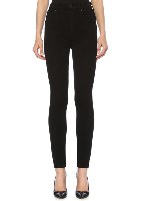 Chrissy Uber Siyah Yüksek Bel Skinny Jean Pantolon