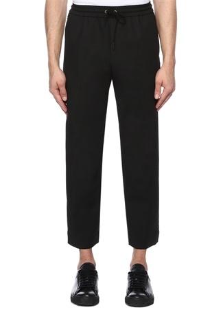 Siyah Beli Bağcıklı Spor Pantolon