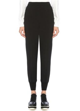 Stella McCartney Kadın Julia Siyah Yüksek Bel Paçası Lastikli Pantolon 40 IT