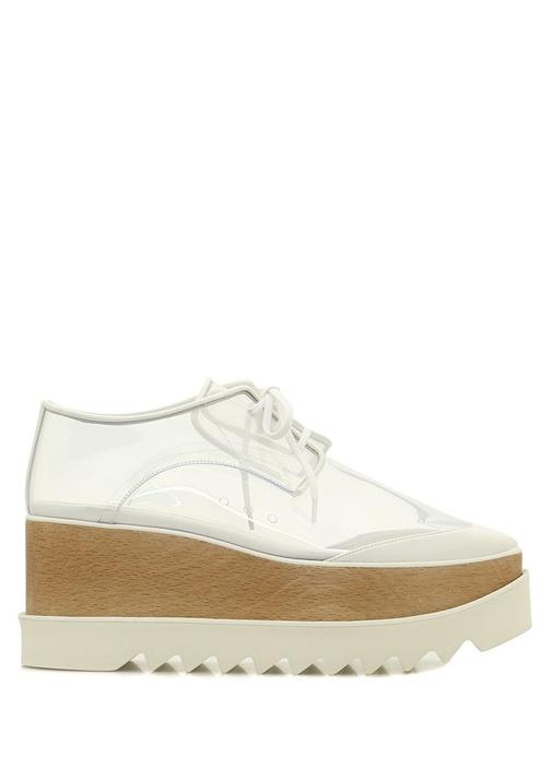 Elyse Beyaz Transparan Kadın Sneaker