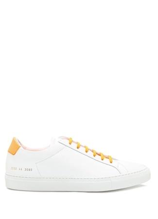 Common Projects Erkek Beyaz Deri Sneaker 4 EU male 41