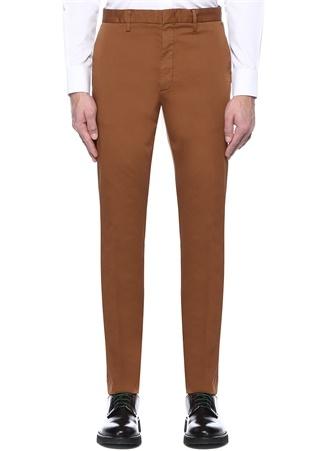 Kahverengi Normal Bel Dar Paça Chino Pantolon