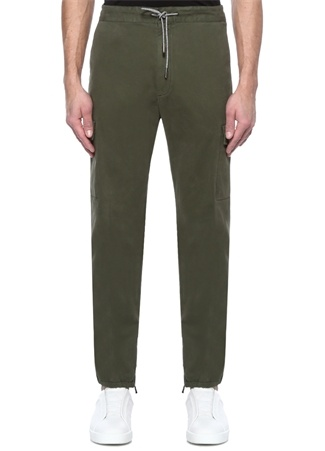Z Zegna Erkek Yeşil Normal Bel Paça Detaylı Kanvas Pantolon 56 I (IALY) Ürün Resmi