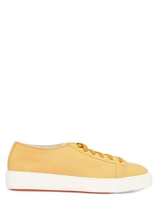 Santoni Kadın Hardal Dokulu Deri Sneaker Sarı 37 R Ürün Resmi
