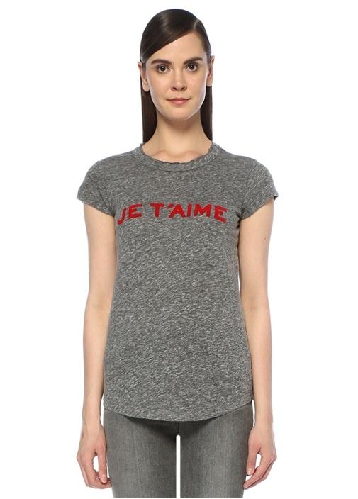Skinny Je Taime Gri Melanj T-shirt