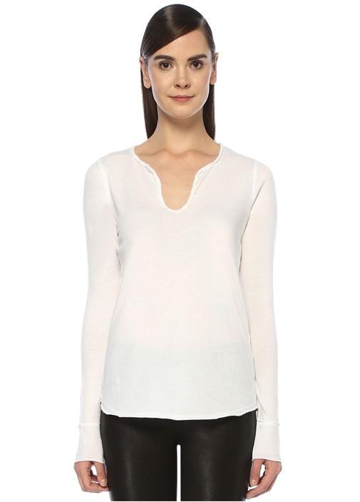 Zadıg&voltaıre Tunisien Beyaz Sırtı Baskılı Uzun Kol T-shirt – 879.0 TL
