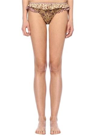 Juniper V Kesim Çiçekli Fırfırlı BikiniAltı