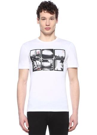 Graphic Beyaz Baskılı Basic T-shirt