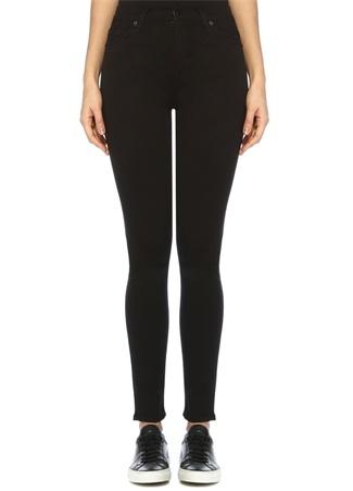 7 For All Mankind Kadın Slim Illusion Luxe Siyah Skinny Jean Pantolon 24 US