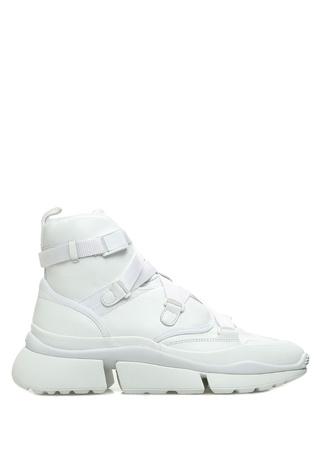 Chloe Kadın Sonnie Beyaz Deri Sneaker 37 EU