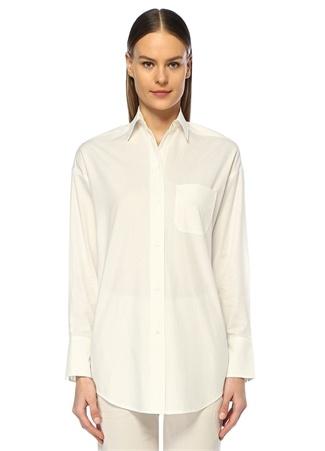 Beyaz Klasik Oversize Gömlek