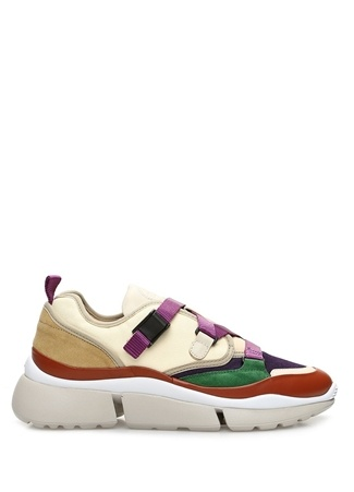 Chloe Kadın Colorblocked Garnili Deri Sneaker 36 EU