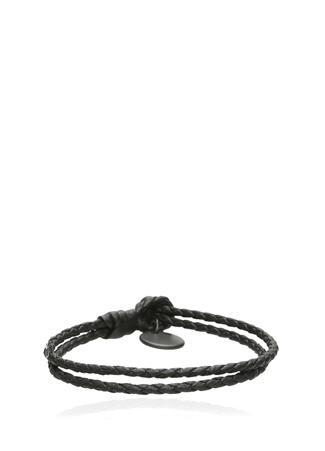 Bottega Veneta Erkek Siyah Örgü Dokulu Bileklik S Ürün Resmi