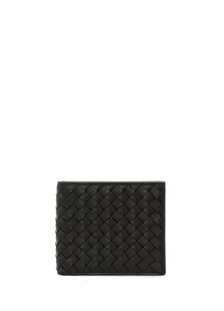 Bottega Veneta Erkek Siyah Örgü Dokulu Deri Cüzdan Ürün Resmi