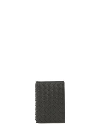 Bottega Veneta Erkek Siyah Örgü Dokulu Deri Kartlık Ürün Resmi