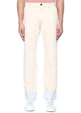 Bottega Veneta Erkek Beyaz Normal Bel Bol Paça Jean Pantolon 48 I (IALY) Ürün Resmi