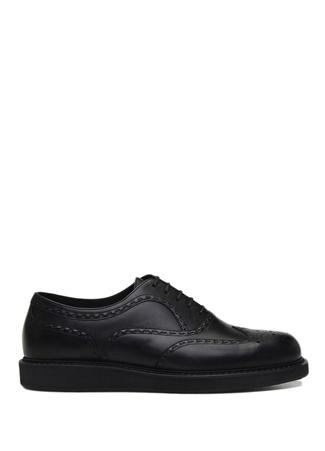 Bottega Veneta Erkek Siyah Delik Desen Detaylı Deri Ayakkabı 40.5 R Ürün Resmi