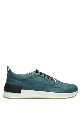 Bottega Veneta Erkek Mavi Örgü Doku Detaylı Deri Sneaker 41.5 R Ürün Resmi