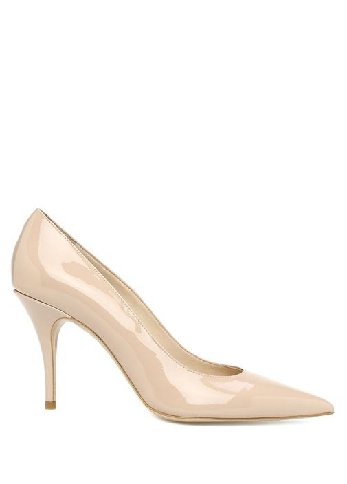 Pudra İnce Topuklu Kadın Ayakkabı