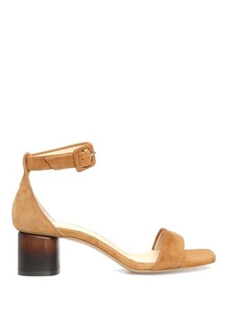 Taba Topuk Detaylı Kadın Süet Sandalet