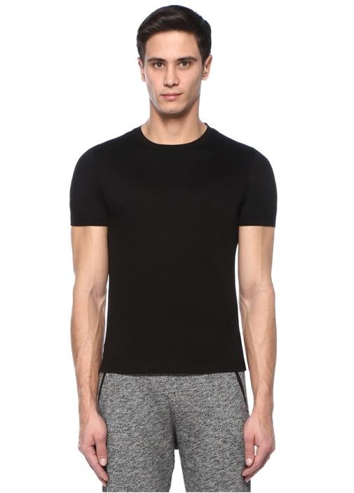 James Siyah Bisiklet Yaka Basic T-shirt