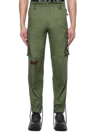 Yeşil Normal Bel Logo Patchli Jogger Pantolon