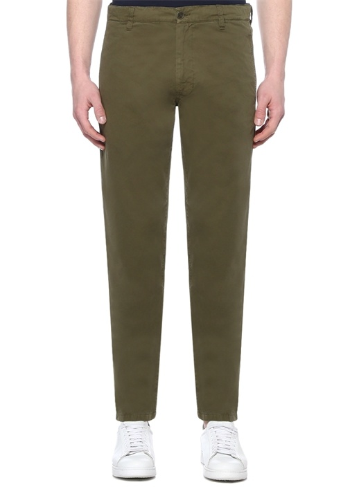 Haki Normal Bel Kanvas Pantolon
