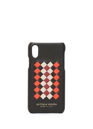 Erkek Siyah Örgü Dokulu Detaylı ıPhone X Telefon Kılıfı EU