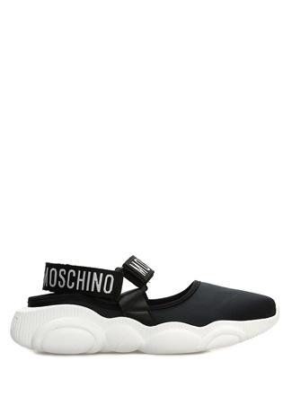 Moschino Kadın Siyah Beyaz Logolu Sneaker 37 EU female