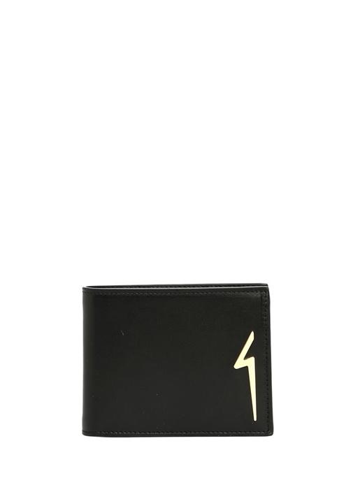 Siyah Silver Logolu Erkek Deri Cüzdan