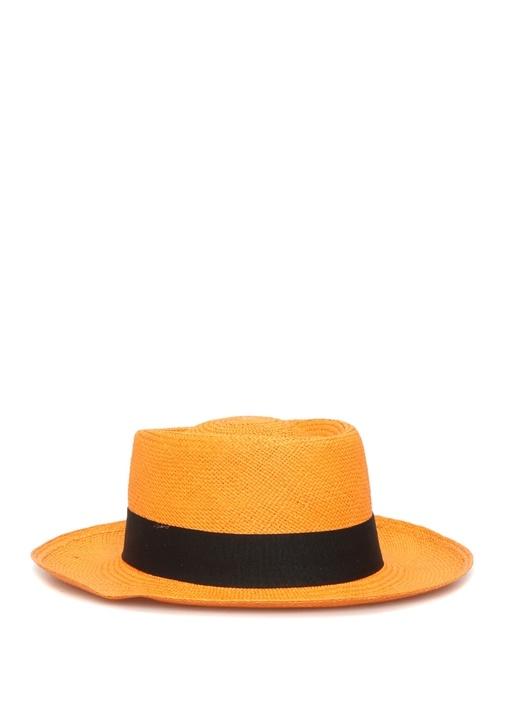 Dumont Turuncu El Yapımı Kadın Hasır Şapka