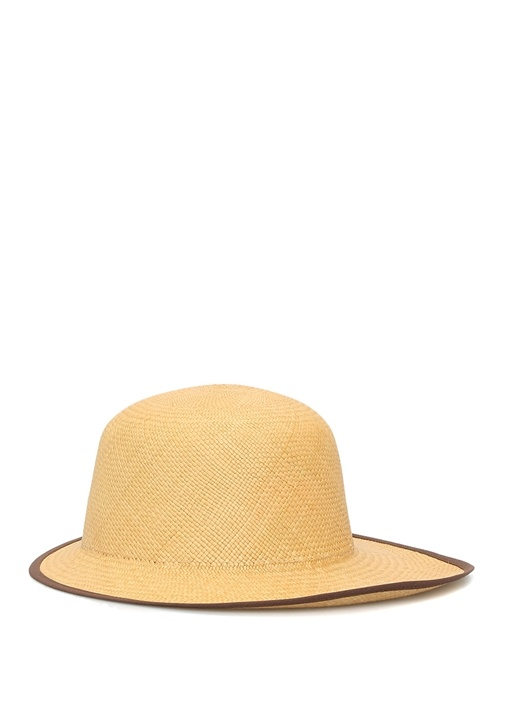 Lady Queen Bej El Yapımı Kadın Hasır Şapka