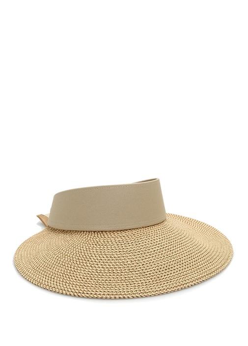 Bej Hasır Dokulu Kadın Şapka