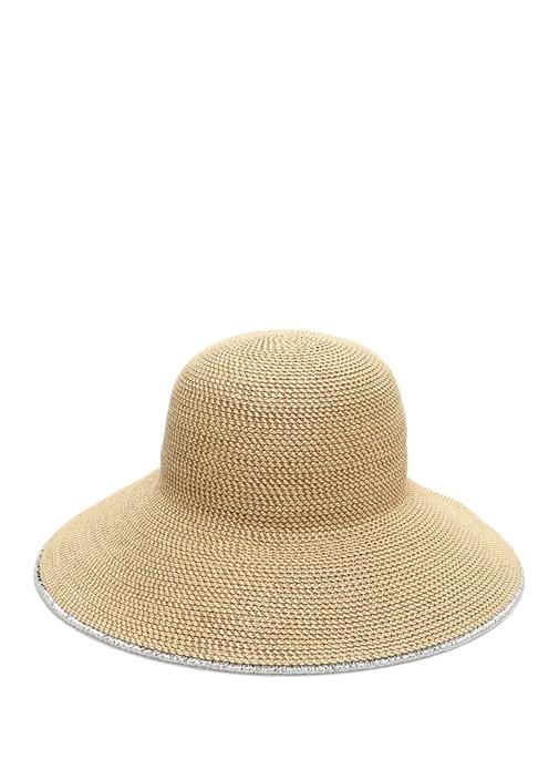 Bej Kenarları Biyeli Kadın Şapka