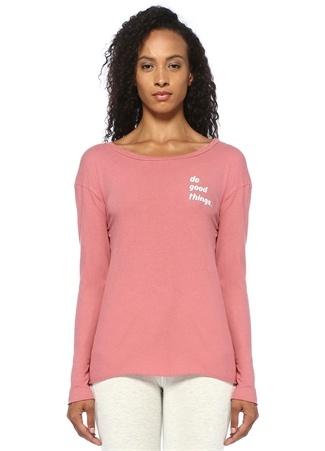 Good Hyouman Kadın Do Things Pembe Kayık Yaka Sweatshirt M EU