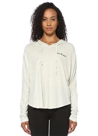 Good Hyouman Kadın Love Is The Answer Beyaz Kapüşonlu Sweatshirt XS EU
