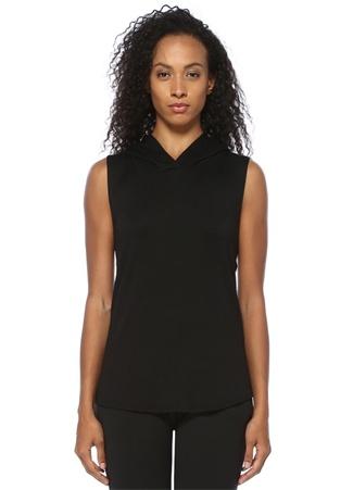 Good Hyouman Kadın Siyah Kapüşonlu Kolsuz Sweatshirt L EU