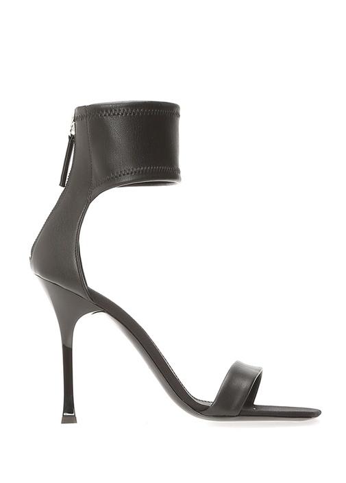 Demode 105 Siyah Bilek Detaylı Kadın Deri Sandalet