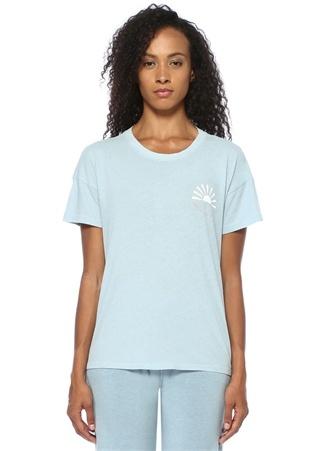 Good Hyouman Kadın Feelin Like Sunshine Mavi Nakışlı T-shirt M EU