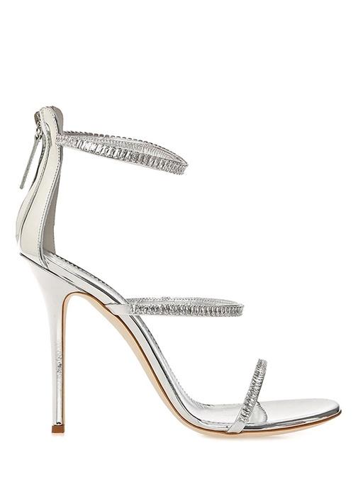 Gıuseppe Zanottı Harmony Silver Taşlı Kadın Deri Gece Ayakkabısı – 6150.0 TL