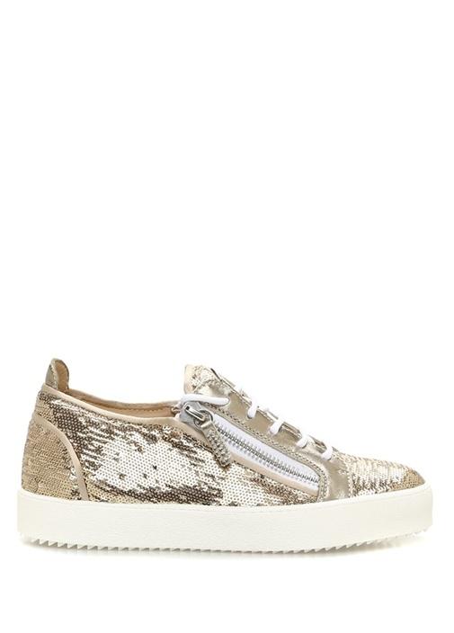 Gıuseppe Zanottı July Beyaz Siyah Kadın Kanvas Sneaker – 3149.0 TL