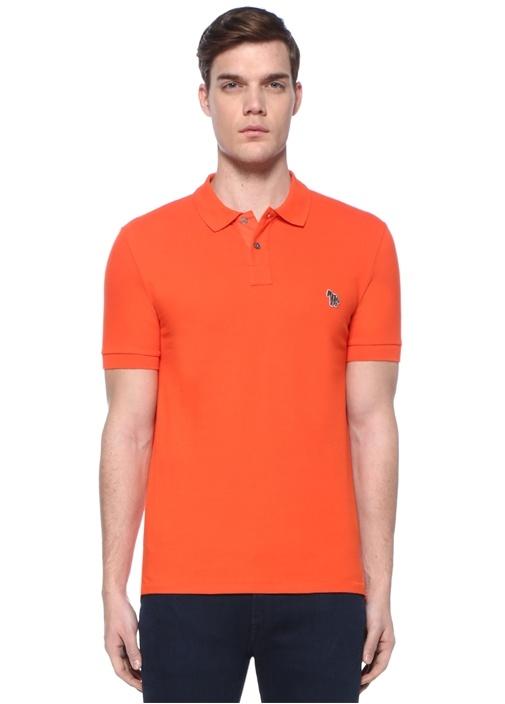 Slim Fit Turuncu Polo Yaka T-shirt