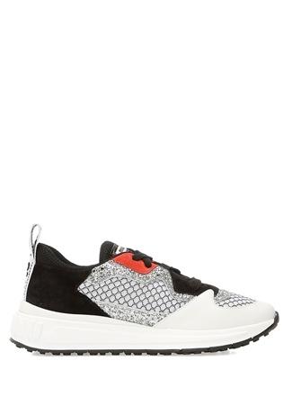 Miu Miu Miu Kadın Beyaz Silver Simli Sneaker 39 EU