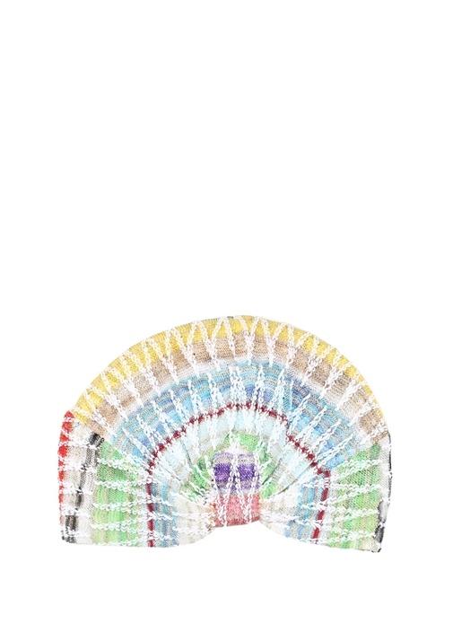 Colorblocked Düğüm Detaylı Dokulu Saç Aksesuarı