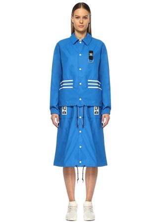 5d010bc6774ab 44 female Mavi Adidas Kadın Olivia Leblanc Çıkarılabilir Pardösü EU
