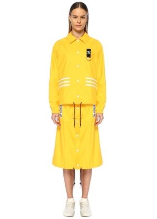 Adidas Kadın Olivia Oblanc Sarı Yağmurluk Altın Rengi 44 EU