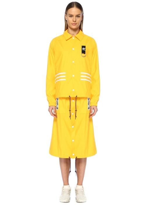 Olivia Leblanc Sarı Çıkarılabilir Pardösü